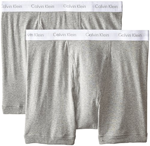 Calvin Klein Men's Big and Tall Cotton Classics 2 Pack Boxer Briefs, Grey Heather, 3X