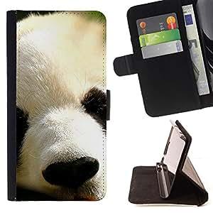 Jordan Colourful Shop - panda Japanese cute animal furry muzzle For Apple Iphone 6 PLUS 5.5 - < Leather Case Absorci????n cubierta de la caja de alto impacto > -