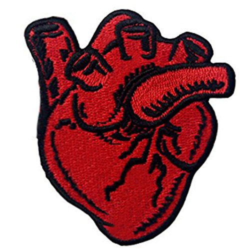 X-Ray Anatomical Heart Embroidered Badge Iron On Sew On -