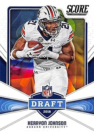 brand new b6c58 0aaf9 Amazon.com: 2018 Score NFL Draft #25 Kerryon Johnson Auburn ...