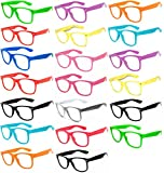 (20 Pieces Per Case) Wholesale Lot Clear Lens Glasses. Assorted Colored Frame Fashion Glasses. Bulk Glasses - Wholesale Bulk Nerdy Party Glasses, Party Supplies. offers