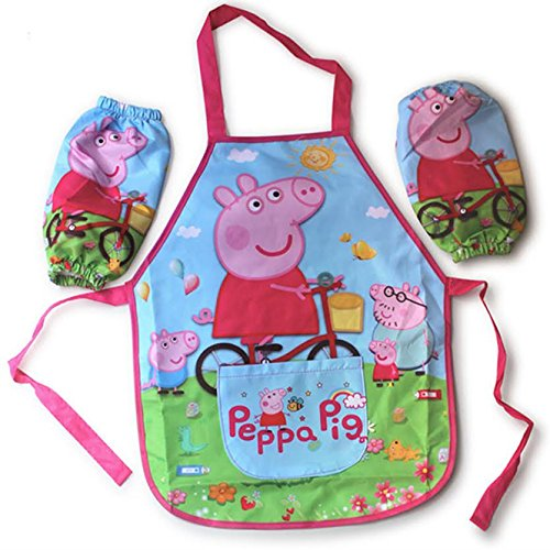 Peppa Pig Children's Overall (bib, pinafore, child's pinny) (Kids Fancy Dress Next Day Delivery)