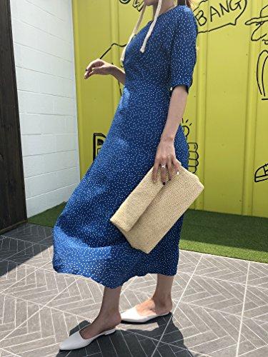 Bag Women Straw Mastermade Shoulder Clutch Bag Rattan Handbag Bag Bag Women q6tqFP