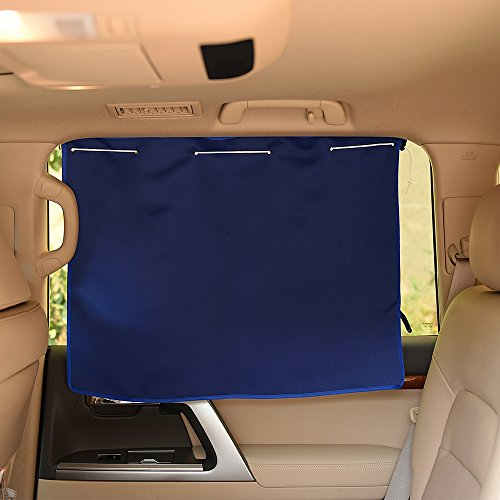 Sunshade Side Window Car Curtains   Pony Dance Energy Saving Thermal Insulated   Resist Uv Car Sun Shades With Suction Cup For Privacy  27 5 W X 20 5 L  Navy Blue  2 Pieces