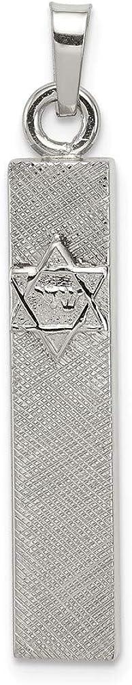 FB Jewels Solid 925 Sterling Silver Mezuzah Pendant