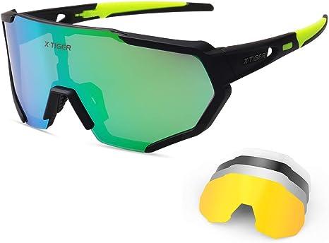 X-TIGER Gafas Ciclismo CE Certificación Polarizadas con 5 Lentes ...