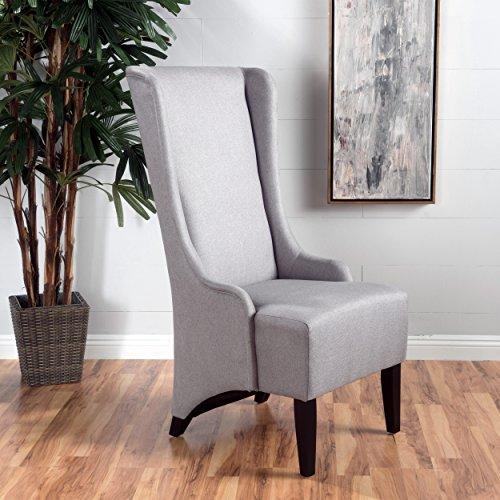 Sheldon Light Grey High Back Fabric Dining Chair
