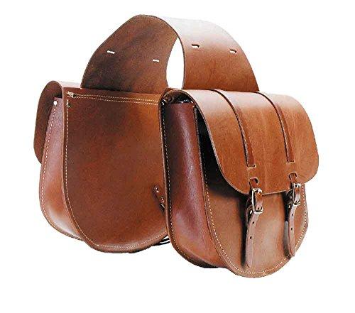 The Colorado Saddlery Extra Large Leather Saddle Bag