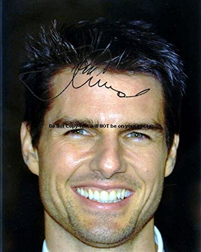 Tom Cruise Autographed Preprint Signed Photo 5 ()
