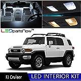 Toyota FJ Cruiser 2007-2014 Xenon White Premium LED Interior Lights Package Kit (4 Pieces) + TOOL
