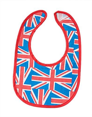 (StylesILove Cute and Fun Print Newborn Baby Waterproof Feeding Bibs, 0-9 Months, 2-Piece (British Flag))