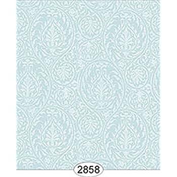 Dollhouse Wallpaper 1:12 Parisian Stripe Teal Blue
