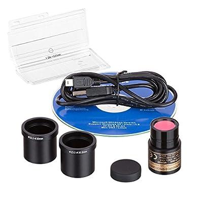 AmScope 5.0 MP USB Still & Live Video Microscope Imager Digital Camera + Calibration Kit