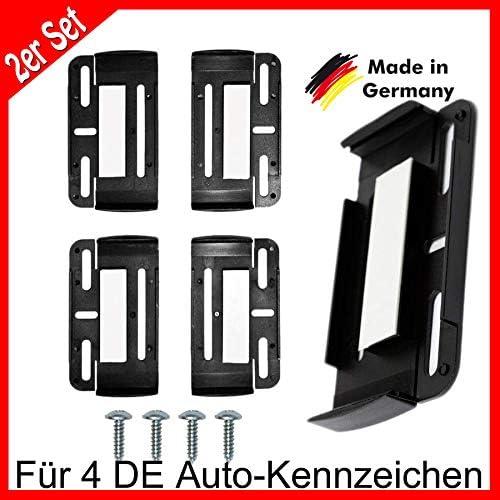 Cr Lights 4 X Kennzeichenhalter Rahmenlos Nummernschildhalter Kfz Auto Setpreis Simplefix Auto