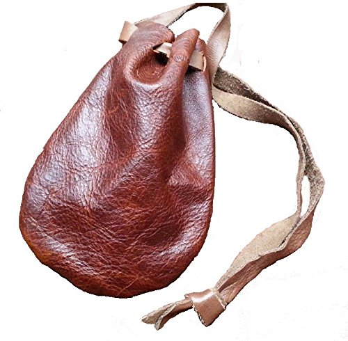 Dice Bag Leather (Leather Pouch Coin Dice Bag BROWN - Made in USA)