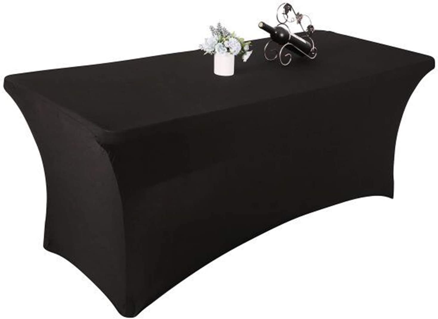 Yetomey Spandex Table Cover Rectangular Stretch Tablecloth,for DJ,Tradeshows,Vendors,Weddings