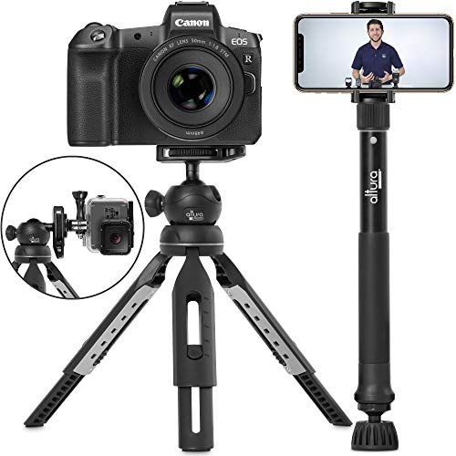 6 in 1 Monopod Tripod Kit by Altura Photo - Universal 55