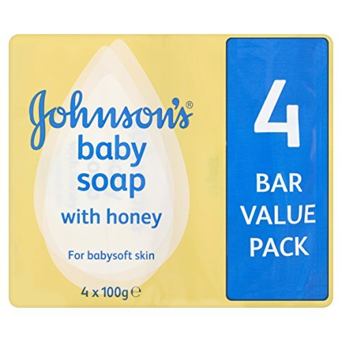Johnson's Baby Soap with Honey, 4 x 100g Bars by Johnson's Baby by Johnson & Johnson