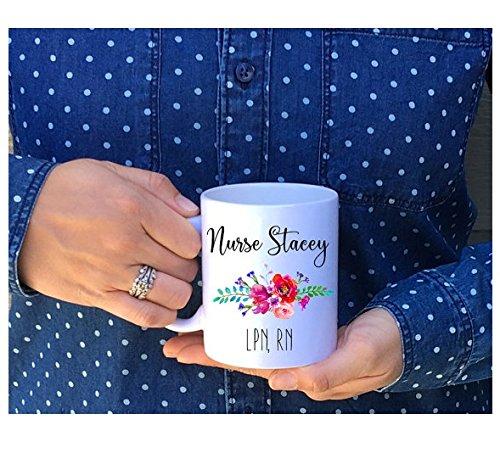 Nurse Customized Coffee Mug, RN, 11 oz or 15 oz coffee mug // Personalized Nurse Mug // Nurse Appreciation Mug Dishwasher (Diy Monogram Wine Glasses)