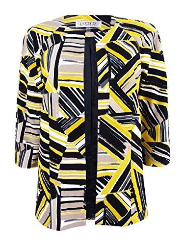 Kasper Women's Abstract Printed Scuba Crepe Jacket, Saffron Multi, 16 from Kasper