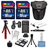 NB-11L Deluxe Accessory Bundle for Canon PowerShot sx400, 410, 420, along with a total of 32GB, Flexible Tripod, Battery, AC/DC Charger, and Cleaning Accessories
