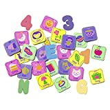 Munchkin Foam Bath Learning Toy Pack, Pastel, 60 Count