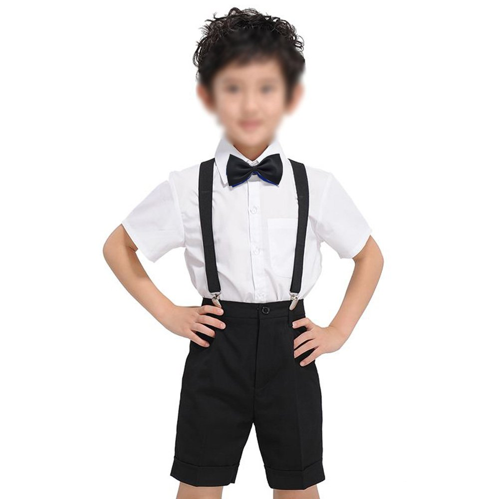 Glittermall Solid Color Adjustable Boys Kids Bow Tie Collection