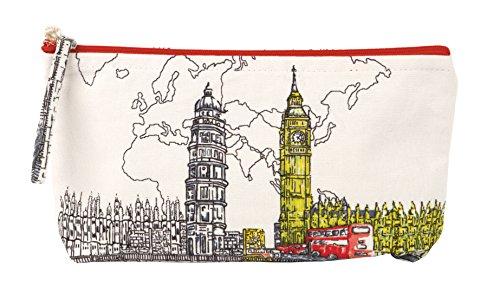 London Zipper - London Big Ben Handmade Pouch