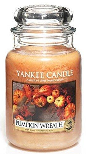 Yankee Candle Pumpkin Wreath Large Jar Candle, Fresh Scent
