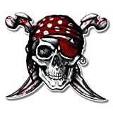 jolly roger car window decal - AK Wall Art Pirate Skull Jolly Roger Vinyl Sticker - Car Window Bumper Laptop - Select Size