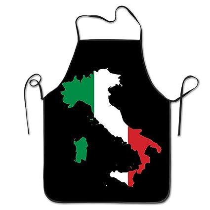 Italia Italia Mapa Italiano Divertido Delantal Cocina BBQ ...