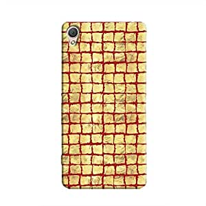Cover It Up - Gold Red Break Mosaic Xperia M4 Hard Case