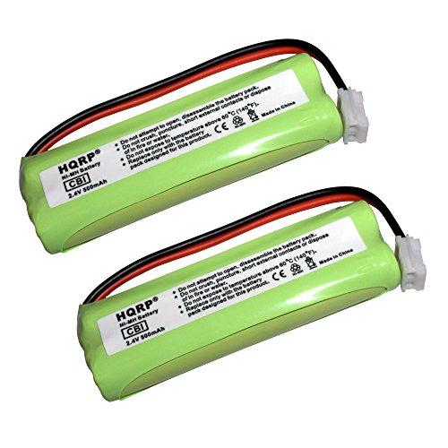 HQRP 2-Pack Phone Battery for VTech LS6204, LS61152, LS61172, LS61252, LS61253, LS61254 + HQRP Coaster Vtech Ls6204 Accessory Handset