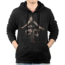 Men Destiny Kanji Destiny Hunter Hooded Sweatshirt Black