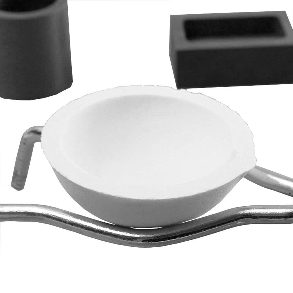 LTKJ 4Pcs//Set Torch Melting Kit Graphite Crucible Tongs Smelting Bowl Ingot Mold Furnace Casting Foundry Melting Tool Set