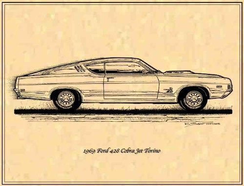 1969 Ford Torino Cobra jet Art Print