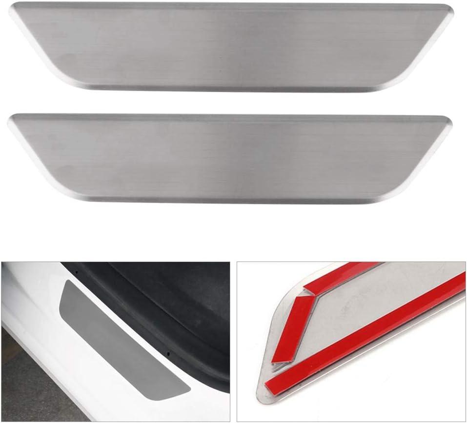 2 pezzi Protezione del davanzale della porta in acciaio inossidabile per modello 3 2017-2019 Decorazione interna Protezione del davanzale della porta