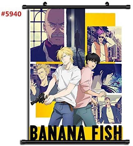 Cloth Poster Banana Fish Ash Okumura Eiji Couples Anime Wall Scroll 60x40cm