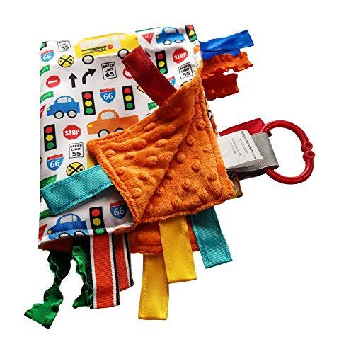 Lovey Security Baby Blanket Sensory Tag Toy Educational Traffic Cars Trucks The Learning (Car Football Games)