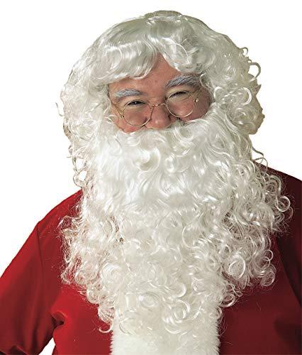 Rubie's Value Santa Beard And Wig Set, White, One Size