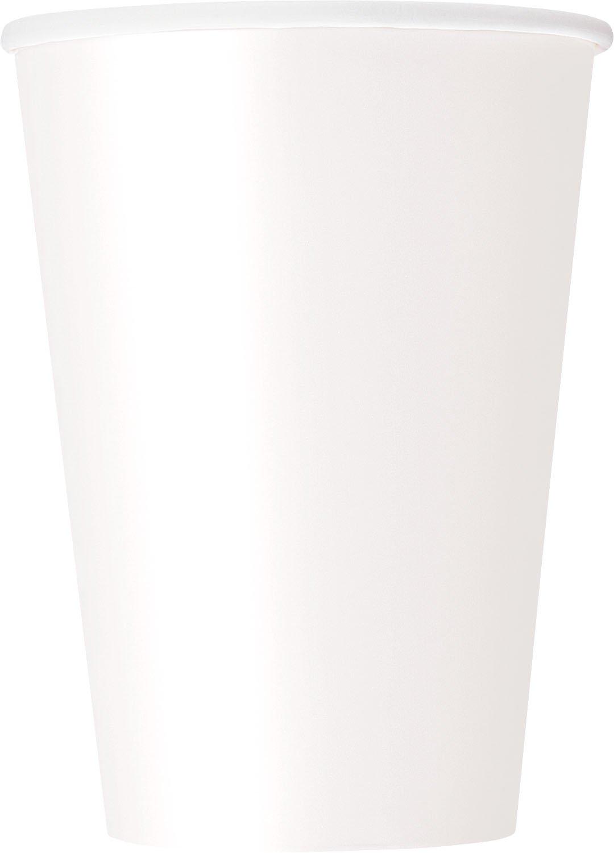Unique Party- Paquete de 10 vasos de papel 355 ml 32117 Color azul cerceta