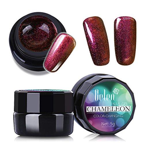 Amazing Color-Changing Effect UV Gel Polish,Belen Soak Off Chameleon Nail Gel Polish,Manicure Pedicure Nail Art Polish Professional Salon 5g 3006