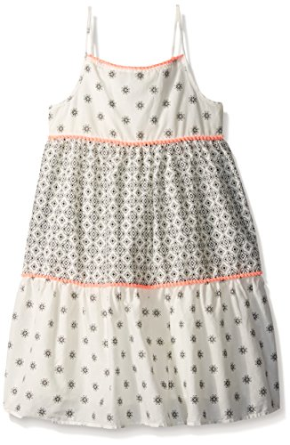 The Children's Place Baby Girls' Toddler Shoulder Casual Dresses, Snow 79671, 5T