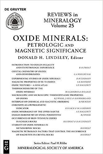 Oxide Minerals: 25 por Donald H. Lindsley epub