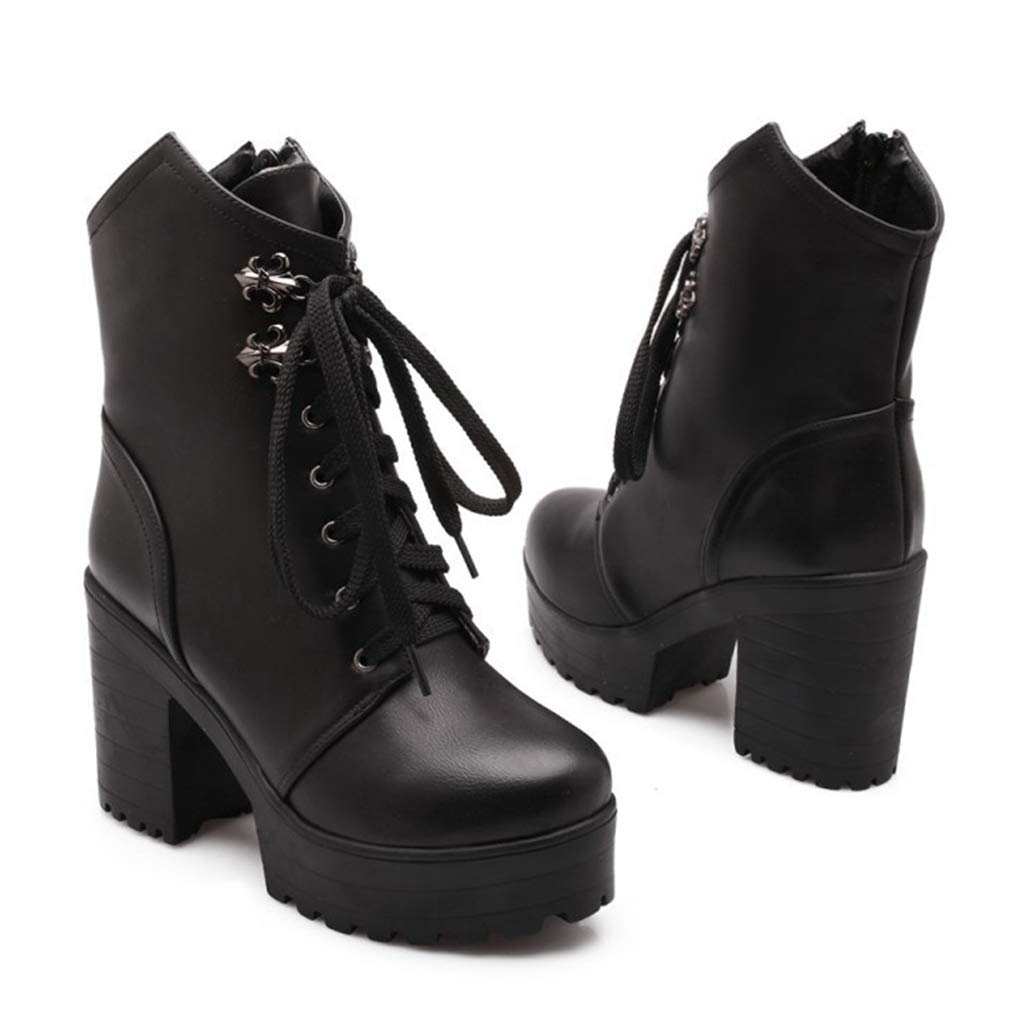 5ac2784adce Amazon.com | CYBLING Women Platform Ankle Boots Winter Casual ...