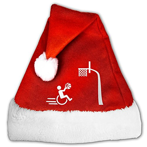 Colla CollaTees Wheelchair Santa Hat Perfect Accessory For Santa Claus Costume - Celebrate Xmas With Family & Friends Medium