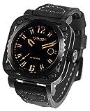 LUM-TEC G9 Phantom Men's Black/Silver Skeleton Watch