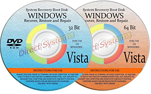 2 BOOT DISKS for RESTORE & RECOVERY for WINDOWS VISTA 32 & 64 - Guess Buy Boots