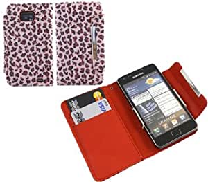 Cerhinu iTALKonline PINK SOFT LEOPARD TOUCH Executive Wallet Case Cover Skin Cover with Credit / Business Card Holder...