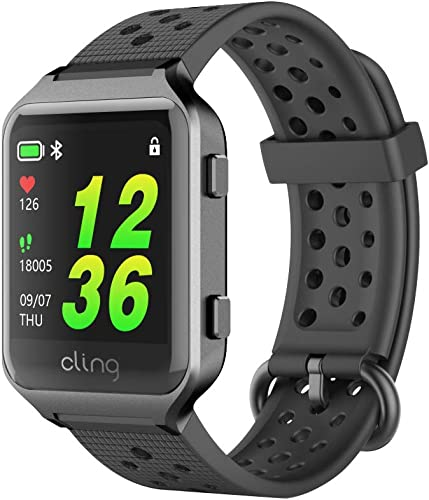 Cling Leap Smartwatch, Medication Compliance and Prescription Inventories Tracking, Multisport Built-in GPS, Heart Rate and Blood Pressure Monitoring, Activity Tracker, 50m Water Resistance.